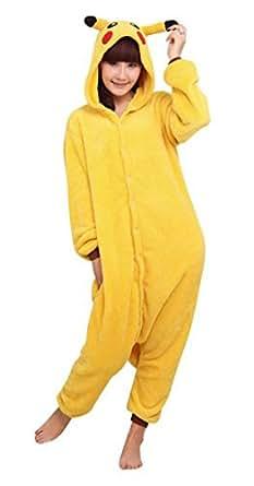 WOWcosplay Unisex-adult Kigurumi Onesie Fire Dragon Pajamas,Pikachu M