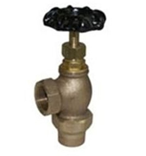 Legend Valve 111-103NL No Lead T-441 Bronze Angle Meter Valve, 3/4' Flange x 1/2' Iron Pipe Straight Thread 3/4 Flange x 1/2 Iron Pipe Straight Thread