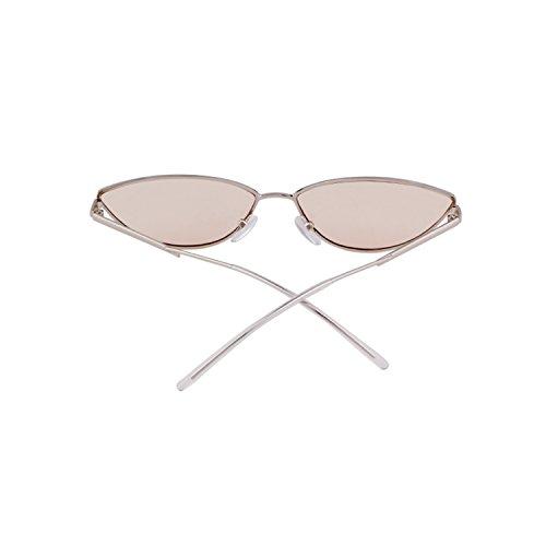 Light Brown lens Pour En Petites De Avec 2018 Monture Soleil Silver Adewu Lunettes frame Métal Homme Tz7aPOx