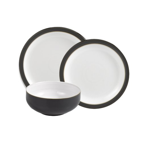 Denby 12-Piece Dinnerware Set, Jet Black