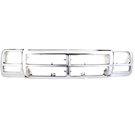 Front Chrome Plastic Grill Grille Frame Assembly Replacement 400-17108 CH1200137 83506568AB CarPartsDepot