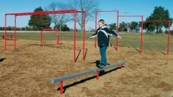 Sport Play 511-206 9 Unit Course w/ Horizontal Ladder - Galvanized