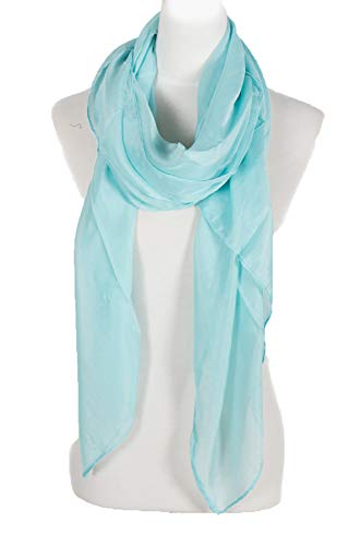Scarf Aqua - Plain Large Scarf, Can also by styled as a Sarong, Wrap or Shawl, summer scar, beach shawl, beach scarf wrap, beach top (Aqua)