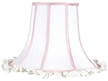 Amazon extra large white ruffle lamp shade with pink trim baby extra large white ruffle lamp shade with pink trim mozeypictures Gallery