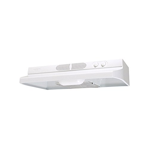 Air King QZ2363 36-Inch Quiet Zone Under Cabinet Range Hood with Infinite Speed Control, 260-CFM, White (Range Hood Infinite Speed Control)