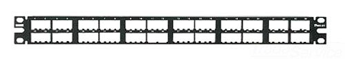 Panduit CPP48HDWBLY 48-Port Flat High-Density Patch Panel, Black