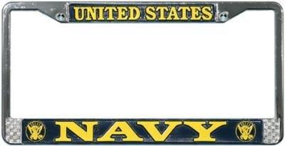 US Navy License Plate Frame (Chrome Metal) ()