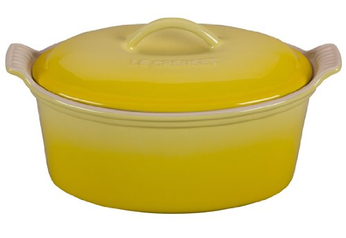 Le Creuset Heritage Stoneware 1 1/5qt Covered Oval Terrine, Soleil - Oval Pate