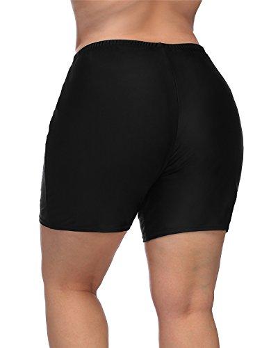 maysoul Women Plus Size Swim Shorts Boyleg Swimwear Shorts Solid Bikini Bottom 2X by maysoul (Image #3)