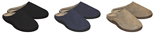 Blue Star Clothing Men's Comfort Padded Memory Foam Suede Clog Slipper w Slip-Resistant Rubber Bottom Sole   Indoor/Outdoor by Blue Star Clothing (Image #7)