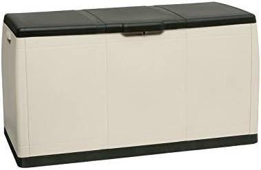 Yellowshop – Baúl de resina - Medidas 118 x 54 x 65 cm- Ideal para almacenar la leña, guardar herramientas - Perfecto para uso externo o interno - Modelo Gbox: Amazon.es: Jardín