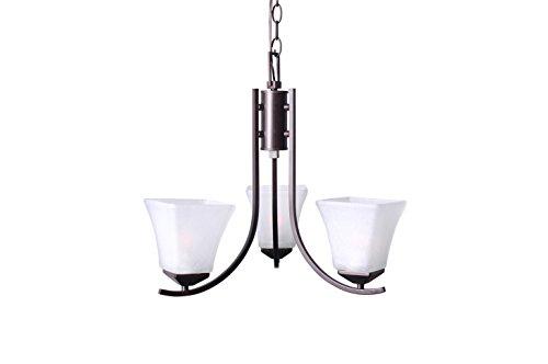Design House 577361 Torino 3 Light Chandelier, Brushed Bronze