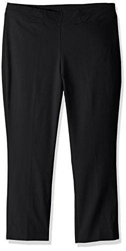 Napa Valley Women's Petite Size Super Stretch Pull On Slim Leg Capri, Black, 16P - Petite Capri Pants