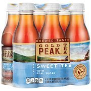 Gold Peak Sweet Tea Iced Tea, 16.9 fl oz, 6 count(Case of 2)