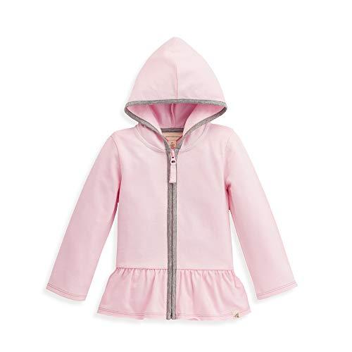 (Burt's Bees Baby Unisex Baby Toddler Sweatshirt, Long Sleeve Zip-Up Hoodies & Pullover Sweaters, 100% Organic Cotton, Girls Pink French)