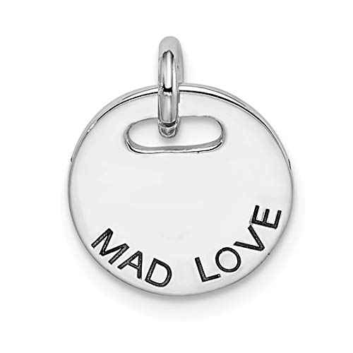 925 Sterling Silver Mad Love Pendant Charm Necklace Fine Jewelry For Women Gift Set -