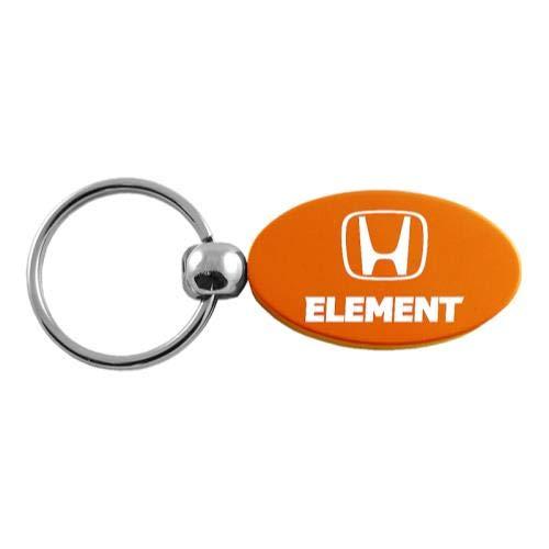 Au-Tomotive Gold, INC. Honda Element Orange Oval Key Chain Car Gift Fob ()