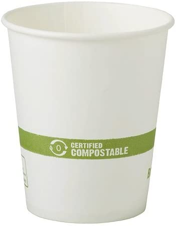 Amazon Com 6 Oz White Compostable Coffee Cups Biodegradable Paper Hot Cups 1 000 Count Kitchen Dining