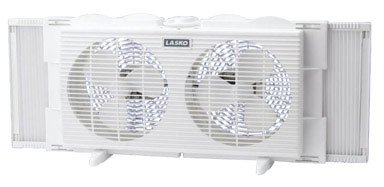 WINDOW FAN 7'' TWIN by LASKO MfrPartNo 2137 by Lasko