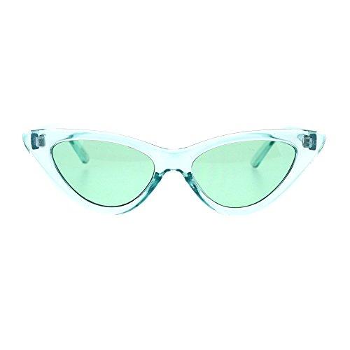 Mint Green Sunglasses - Womens Pop Color Retro Mod Cat