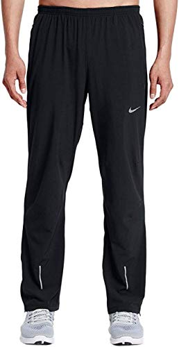Nike Mens Stretch Woven Black Dri-Fit Training Running Pants Sweatpants (Medium)