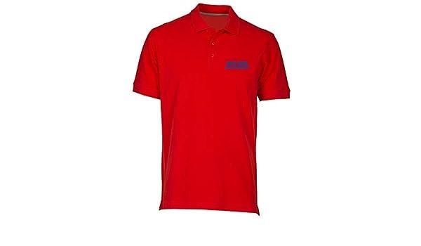 Speed Shirt Polo por Hombre Rojo WC1216 AFC Wimbledon Postcode ...