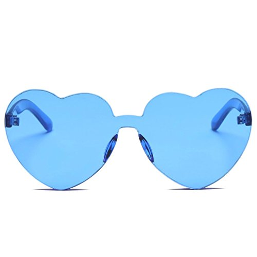 SUNGLASSES, Forthery WOMEN FASHION RETRO CLASSIC HEART-SHAPED POLARIZED SUN GLASSES (G)