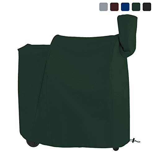 COVERS & ALL Pellet Grill Cover 18 Oz Waterproof - 100% UV & Weather Resistant Charcoal Grill Cover with Air Pockets and Drawstring for Snug Fit (41 W x 27 - Pellet Smoker Brinkman
