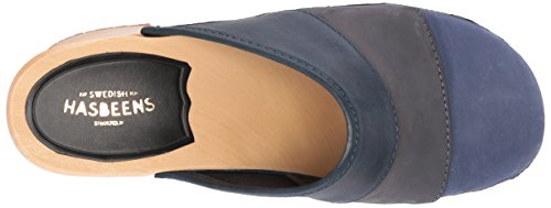 color blue hasbeens Slip swedish Combo nubuck in Color combo Women's Sandal OUnz4Sqn