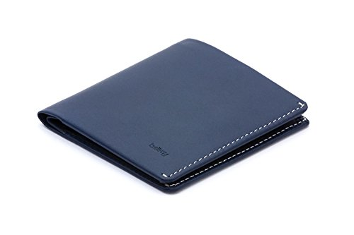 (Bellroy Note Sleeve Leather Wallet, Blue Steel)