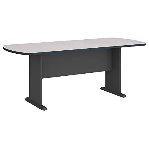 Bush Business Furniture Series A & C 79W x 34D Racetrack Oval Conference Table in Slate ()