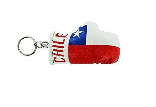 Akacha Porte cles Chili Gant de Boxe Drapeau Flag cle Clef clefs chilien
