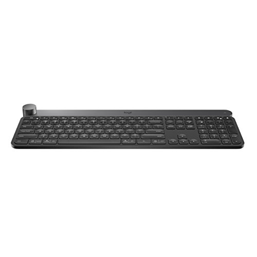 Logitech Craft Advanced Wireless Keyboard with Creative Input Dial and Backlit Keys, Dark grey and aluminum (Certified Refurbished)