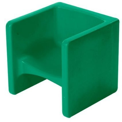 Children's Factory Chair Cube - Green (Cube Chairs Kids)