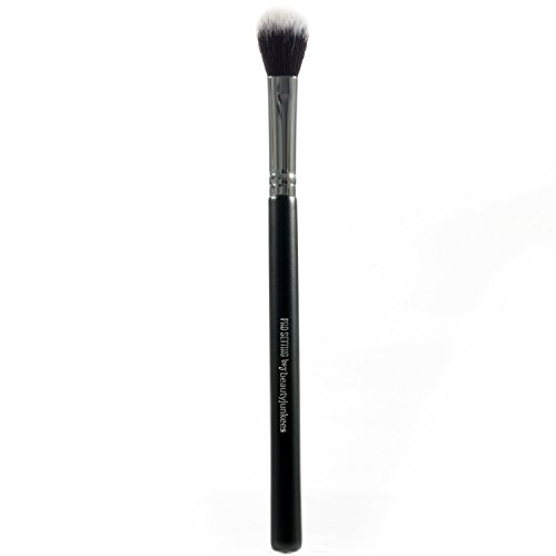 Under Eye Setting Powder Brush - Small Soft Fluffy Tapered Blending Makeup Brush to Set Concealer, Buffing and Finishing Loose, Pressed, Compact, Mineral Cosmetics, Synthetic, Cruelty Free Vegan