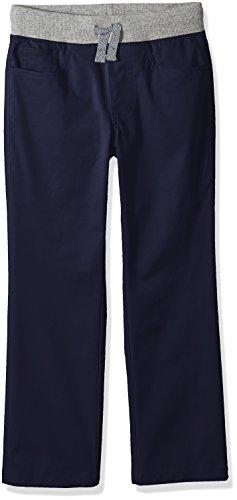 Amazon Brand - Spotted Zebra Boys' Little Kid Knit Waistband 5-Pocket Pants, Navy, Small (6-7)