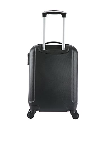 BLUESTAR Set Trolley rígido + neceser Prague Negro Negro