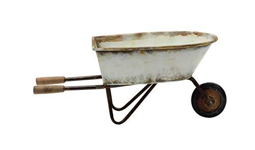 Creative Co-op Decorative Metal Wheel Barrow