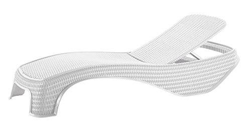 🥇 Keter –  Tumbona de jardín exterior reclinable Atlantic