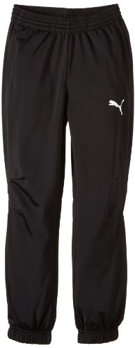 PUMA Kinder Hose Trikot Pants, black-white, 128, 653974 03