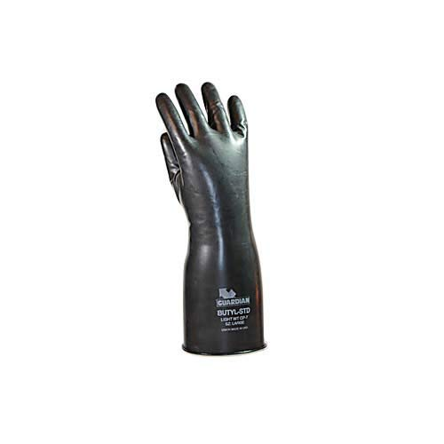 Guardian Manufacturing 50703 Butyl Smooth Chemical Resistant Glove, 7 mil Thickness, Medium, 14