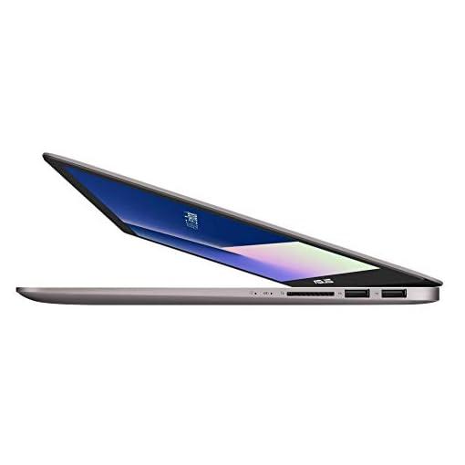 "ASUS ZenBook UX410UA-GV036 - Portátil de 14"" FHD (Intel Core i7-7500U, 8 GB RAM, 256 GB SSD, Intel HD Graphics 620, sin sistema operativo) Gris Cuartzo - Teclado QWERTY Español 2"