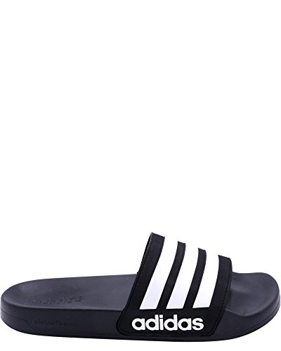 adidas NEO Men's CF Adilette Slide Sandal, Core Black/White/Core Black, 9 M US