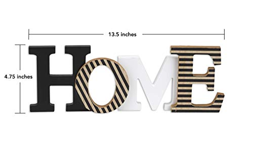 "10 Street Home Modern Rustic Wood Home Decorative Sign, Standing or Wall Mount Cutout Word Decor, Living Room Accent… - GIVES YOU THE WARM FEELING OF BEING HOME - Make your place feel more like home with this great accent piece MODERN RUSTIC "" HOME "" DECOR - Neutral colors that looks great and accents your entryway, living room or bedroom FREE STANDING or WALL MOUNT - Display by standing on your bookshelf, mantle, coffee table, countertop or wall-mount using built-in D-rings - living-room-decor, living-room, home-decor - 31NaOZurzQL -"