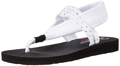 (Skechers Cali Women's Meditation Slingback Yoga Flip-Flop,White,7 M US)