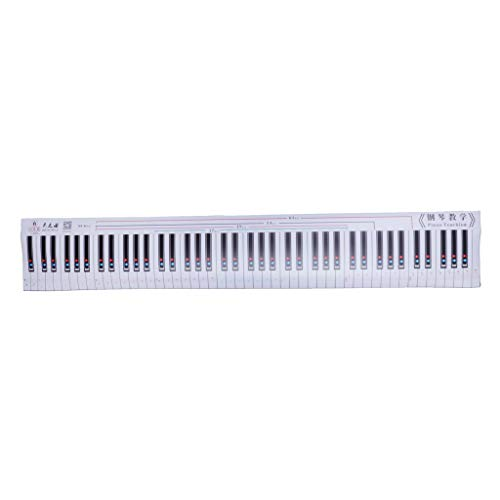 Almencla Piano Keyboard Practice Card, Tap Keyboard Instrument Waterproof 88 Key Electronic Piano Practice Card