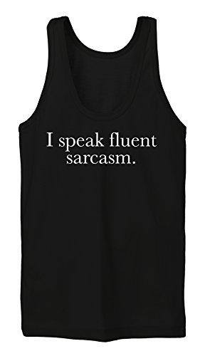 I Speak Fluent Sarcasm Tanktop Girls Nero
