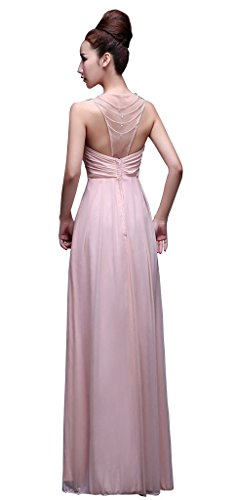 Frauen Off Abend Länge drasawee Kleid Brautjungfer Empire Party Stock Rose Ball Schulter qXwH6gO