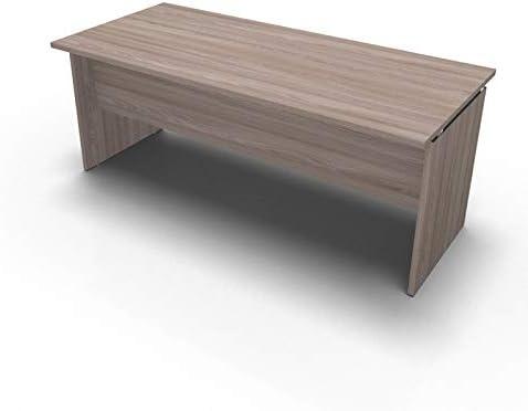 One Living Scrivania da Ufficio Panel Desk Tavolo Porta PC 140 x 80 x 73 CM Noce Scuro L x P x H