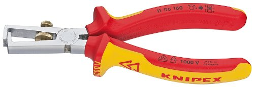 Knipex 1106160 End-Type Wire Strippers, 1000 Volt Rated, ...